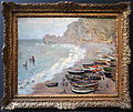 Claude monet, spiaggia di étretat, 1883.JPG