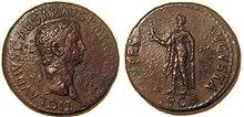 Moneta dell'età di Claudio con la raffigurazione della Spes