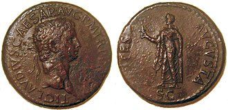 Britannicus - A sestertius issued to commemorate Britannicus' birth