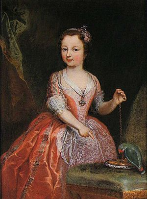 Princess Maria Luisa of Savoy (1729–1767) - Image: Clementi Maria Luisa of Savoy as a child, Stupinigi