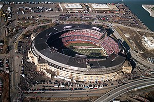 Cleveland Browns relocation controversy - Cleveland Stadium, where the Browns played until 1995.