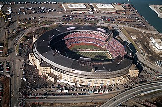 Cleveland Stadium - During the last Browns game played in the stadium, December 17, 1995, against the Cincinnati Bengals.