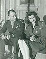 Clifton Cates and Maureen O'Hara, November 1945 (22479452062).jpg