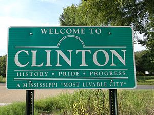 Clinton, Mississippi - Image: Clinton MS Welcome Sign