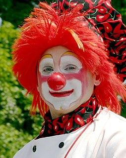 Clown A comic performer often for childrens entertainment