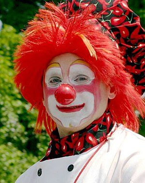 A typical clown getup