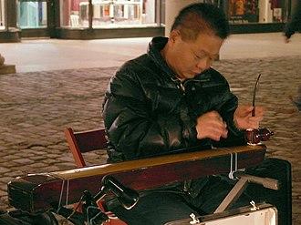 Duxianqin - A duxianqin performer, Gui Duo Chang, at Covent Garden, London