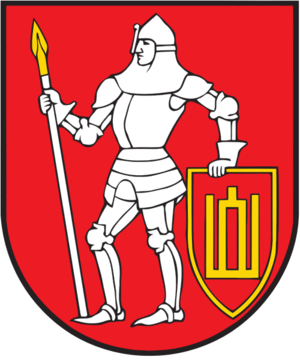 Charge (heraldry) - Image: Coat of arms of Trakai district