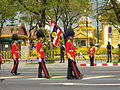 Colours guards of CRMA in the royal funeral procession of Princess Bejaratana Rajasuda.JPG