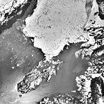 Columbia Glacier, Calving Terminus, Terentiev Lake, Heather Island, May 1, 1995 (GLACIERS 1503).jpg