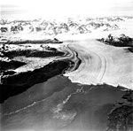 Columbia Glacier, Calving Terminus with Oblique View of Valley Glacier, July 15, 1977 (GLACIERS 1296).jpg