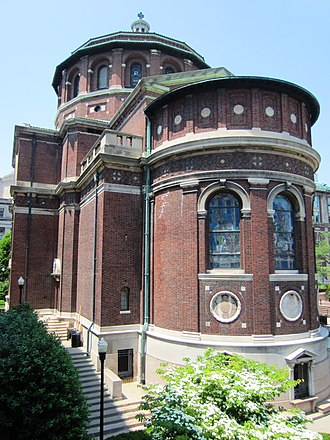 St. Paul's Chapel (Columbia University) - The rear of the chapel, on Amsterdam Avenue