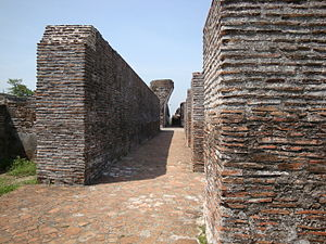 Comalcalco (archaeological site) - A photo of the Palace, showing the brickwork.