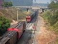 Comboio em manobra no pátio da Estação Ferroviária de Itu - Variante Boa Vista-Guaianã km 201 - panoramio.jpg
