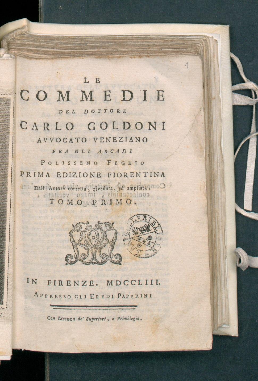 Commedie del dottore Carlo Goldoni