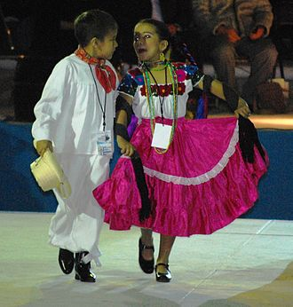 Son mexicano - Dancers at the Concurso Nacional de Huapango in Pinal de Amoles Querétaro