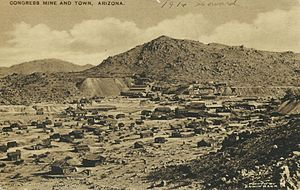 View of Congress and the mine, c.1914.