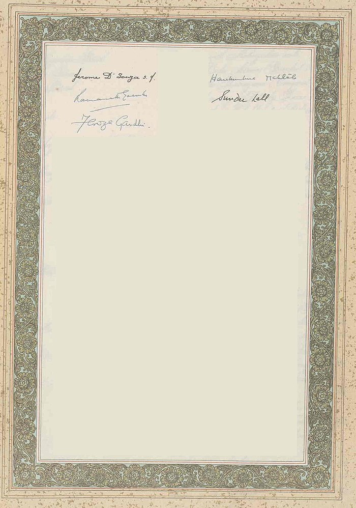 The Constitution of India (Original Calligraphed and Illuminated