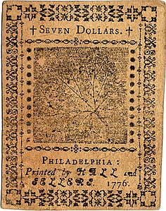 Continental Currency $7 banknote reverse (June 22, 1776).jpg