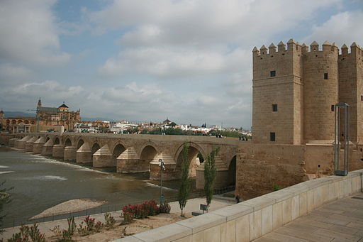 Cordoba bridge to walled city