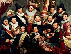 Cornelis van Haarlem: Banquet of the Officers of both companies of the Haarlem Militia 1597-1600