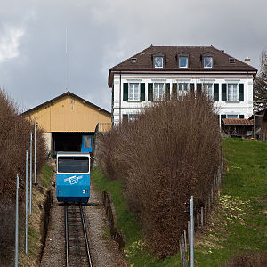 Bergstation in Cossonay (April 2010)