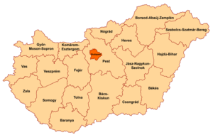 Counties of Hungary - Image: Counties of Hungary 2006