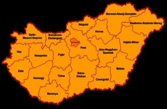 Counties of Hungary - Image: Counties of Hungary 2006