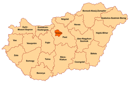 3ab45c3923 Counties of Hungary - Wikipedia