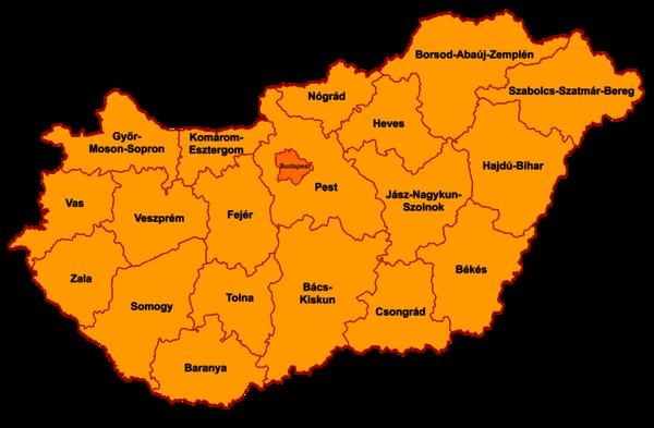 magyarország megye térkép Magyarország megyéi – Wikipédia magyarország megye térkép