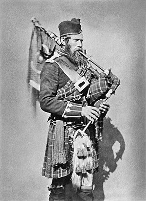 72nd Regiment, Duke of Albany's Own Highlanders - Pipe Major John Macdonald whilst serving in the Crimean War in 1854