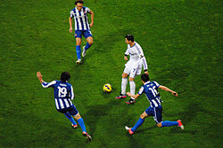1639fa90 Ronaldo in action for Real Madrid against Espanyol during the 2012–13 La  Liga season