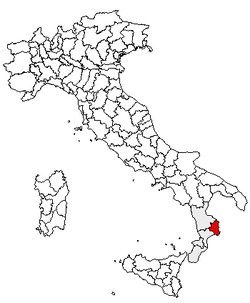 Location of Province of Crotone