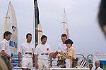 Dériveurs 18 pieds australiens au Salon Nautique International à Flot de La Rochelle 1987 (22).jpg