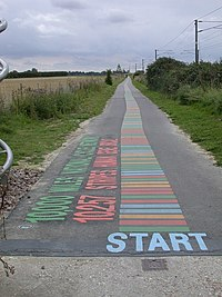 The start of the cycle path