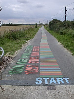Addenbrooke's Hospital - Start of DNA cycle path