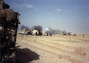 3rd Field Artillery Regiment (United States) - 4th Battalion of the 3rd Field Artillery Regiment conducts artillery strikes on Iraqi positions during the 1st Gulf War. 4-3 FA was the primary fire support battalion for Task Force 1-41 during the 1st Gulf War, February 1991.