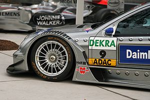 Front wheel of a DTM racing-car