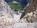 Dal passo travignolo, il ghiacciaio omonimo - panoramio.jpg