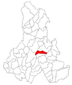 Vị trí của Danesti