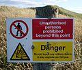 Danger^ - geograph.org.uk - 495185.jpg
