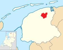 Dantumadiel location map municipality NL.png