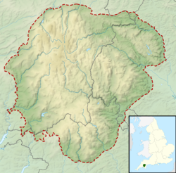 Dartmoor National Park UK relief location map.png