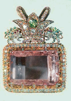 Mining in India - The Darya-i-Noor diamond from the Iranian Crown Jewels, originally from the mines of Golconda, Telangana