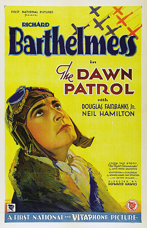 Description de l'image Dawn-Patrol-1930-Poster.jpg.