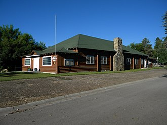 National Register of Historic Places listings in Sheridan County, Wyoming - Image: Dayton Community Hall NRHP 05001338 Sheridan County, WY