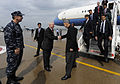 Defense.gov News Photo 100514-F-6655M-001 - Secretary of Defense Robert M. Gates welcomes Afghan President Hamid Karzai and his delegation to Fort Campbell Ky. during a visit with the 101st.jpg