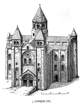 Abbey Church of Saint Foy - View from the west.