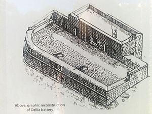 Dellia Battery - Image: Delija Redoubt image on public monument