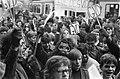 Demonstratie plusminus 500 jongeren tegen verhoging Amsterdamse tramtarieven jon, Bestanddeelnr 922-1543.jpg